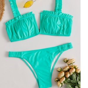 Other - *Bikini V Wired Bust Frill Swimsuit Med